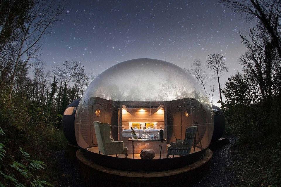 Hotel v tvare bubliny