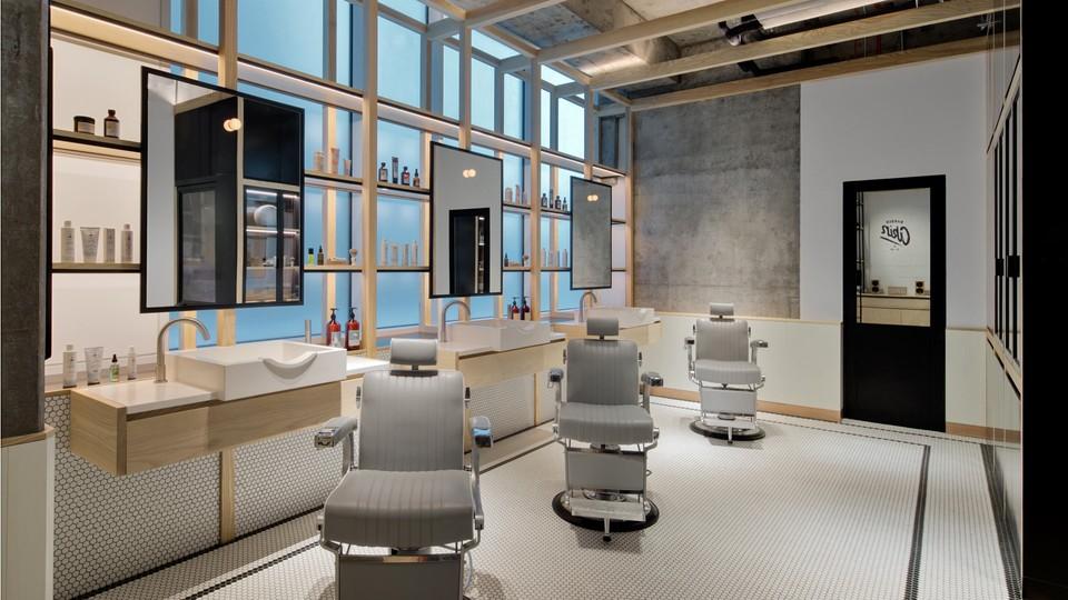 Luxusný barber-shop v Dubaji