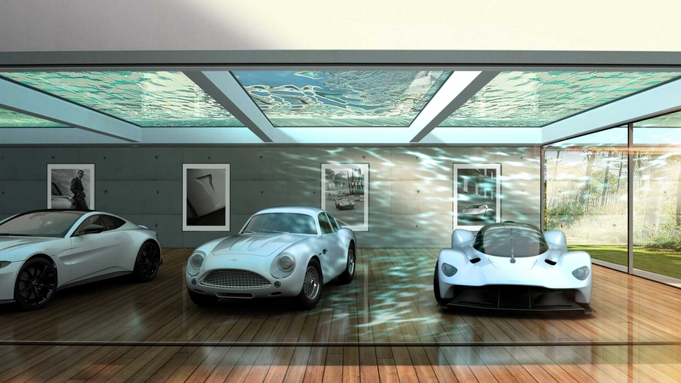 Luxusné garáže Aston Martin