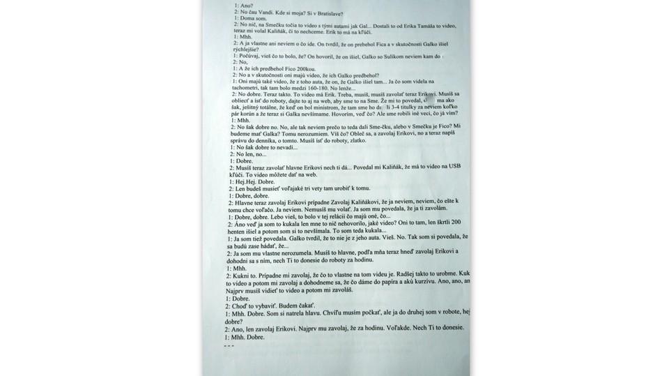 Dokument prepis telefonátu Vavrová Kaliňák9
