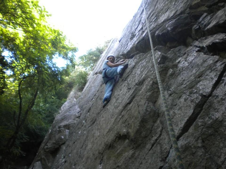 Súdna sieň - Palevičová a jej lezenie po skalách 1