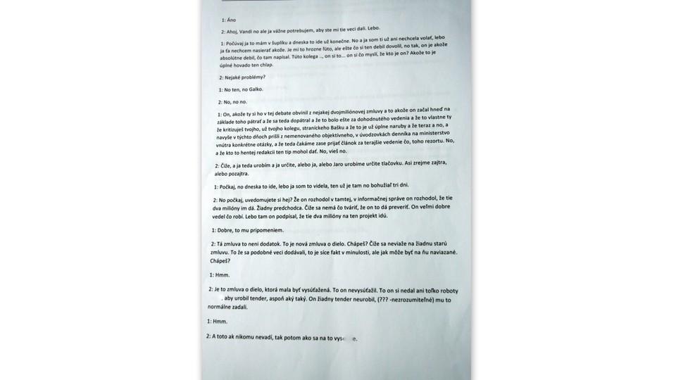 Dokument prepis telefonátu Vavrová Kaliňák6