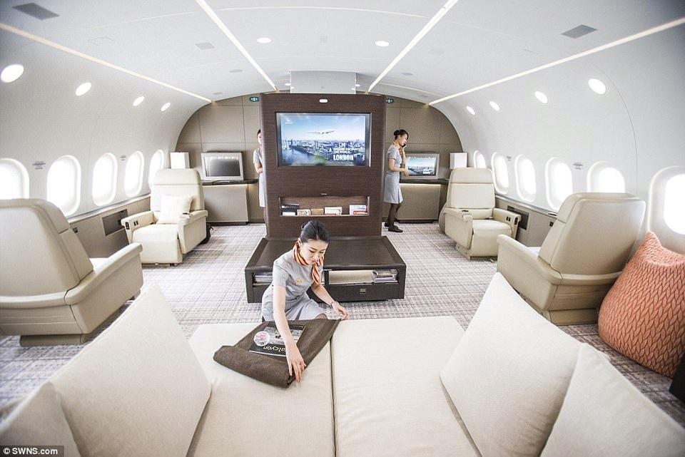 Superluxusné vybavenie lietadla Boeing