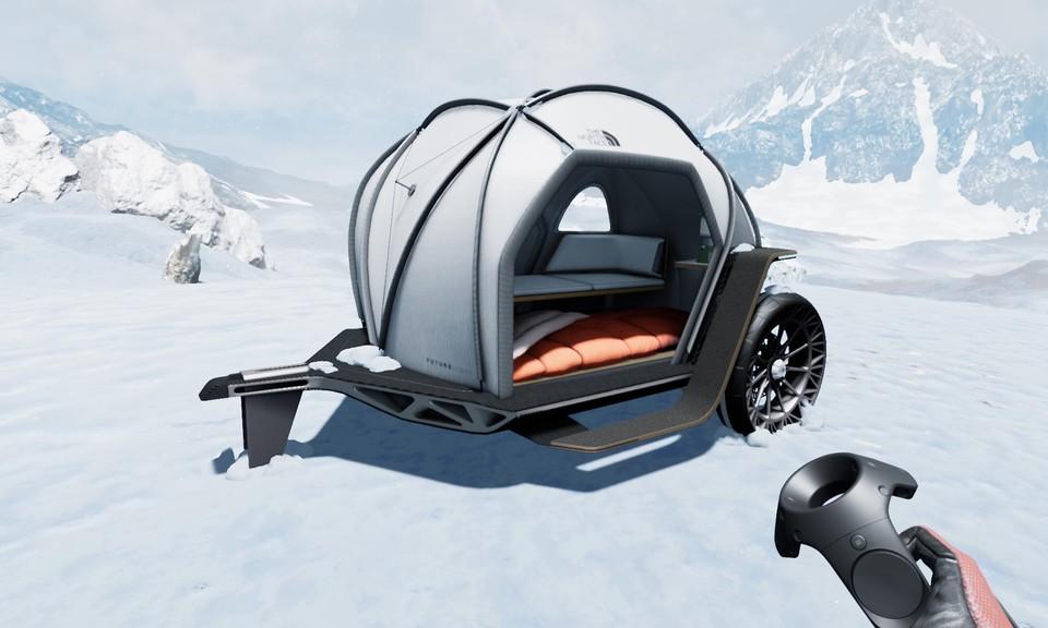 Koncept stanového prívesu od Designworks a The North Face