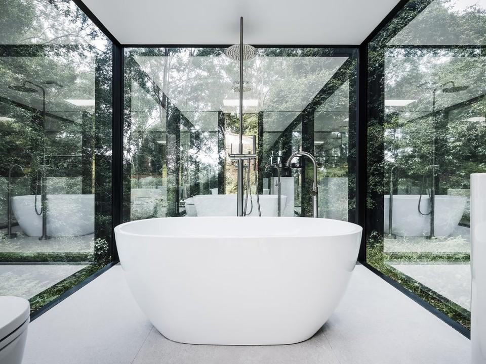 Štýlová lesná kúpeľňa