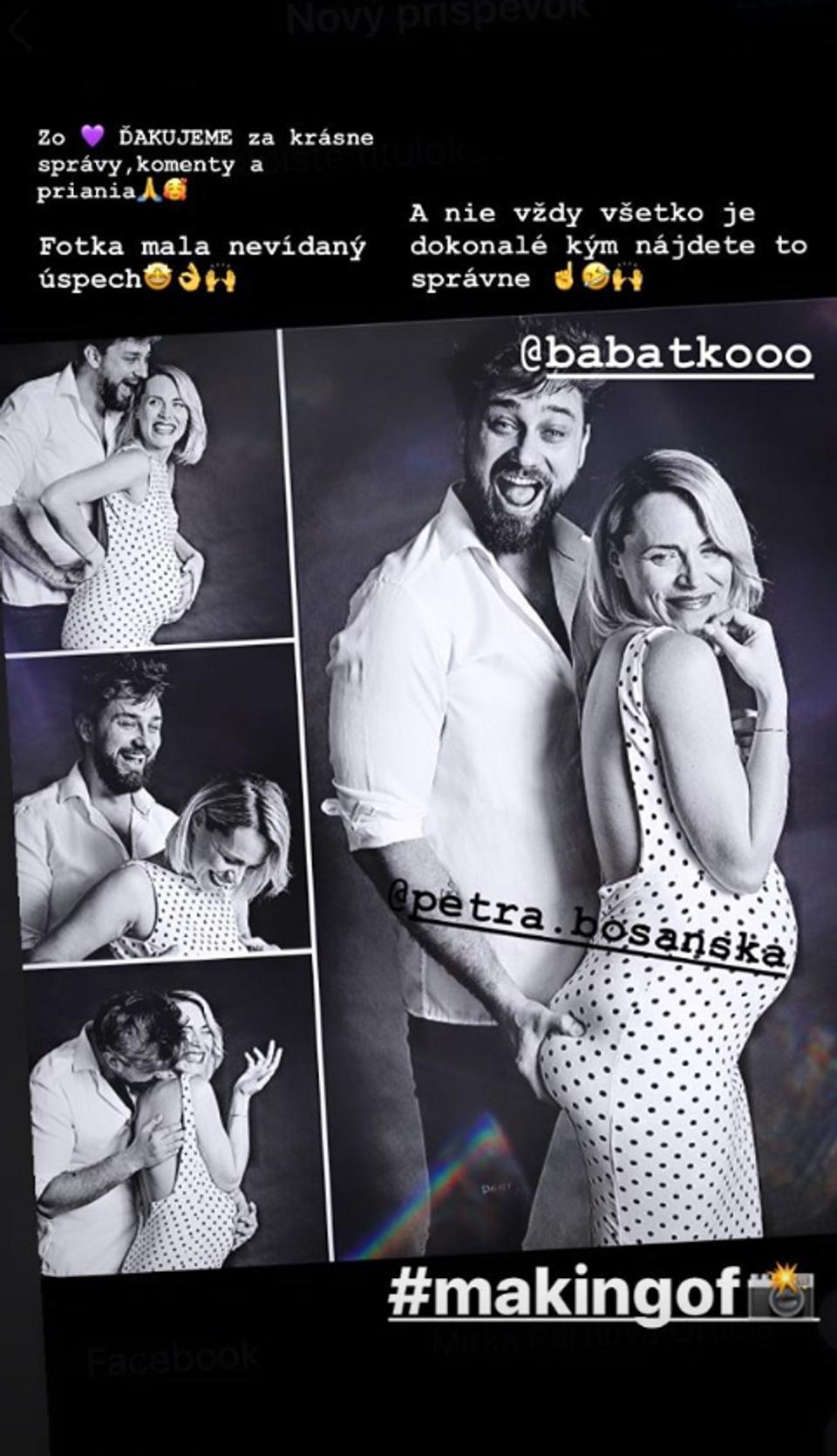 tehotná Mirka Partlová s manželom
