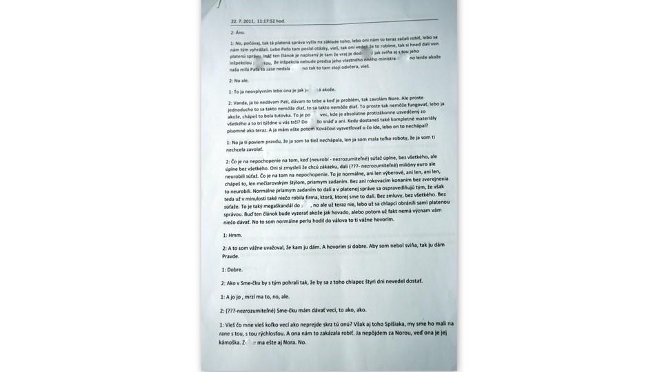 Dokument prepis telefonátu Vavrová Kaliňák4