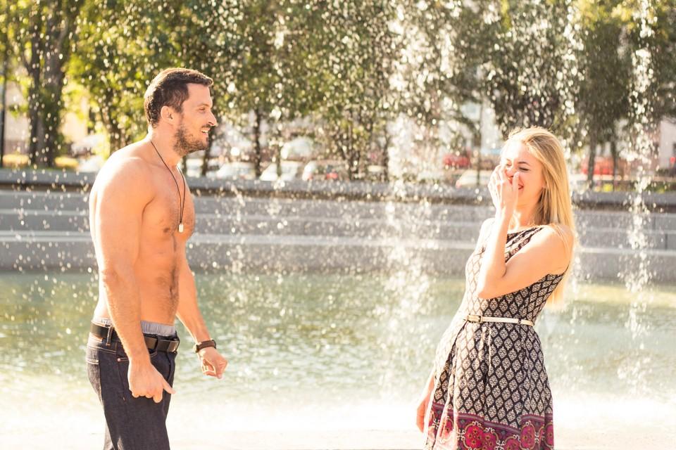 Peter a Lucia - bláznenie vo fontáne 5