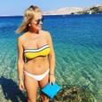 Zuzana Vačková na dovolenke v Chorvátsku