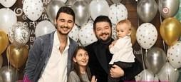 Michal Hudák s rodinou