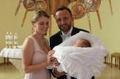Kandráčovci na krste dcérky Marušky
