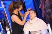 David Gránský v maskérni