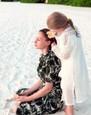 Mária Čírová s dcérkou