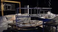 Búranie starého štúdia Novín TV JOJ 8