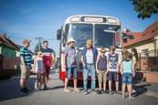 Prázdniny - Nakrúcanie s autobusom Princezná