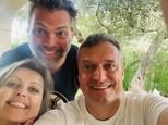 Evita Twardzik s manželom a Marcel Forgáč
