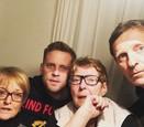 Jakub Prachař s rodinou