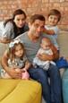 Milan Ondrík s rodinou