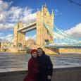 Ondrej Kandráč s manželkou Erikou v Londýne