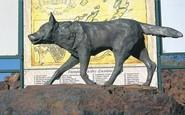 Skutočná socha Červeného psa v Austrálii