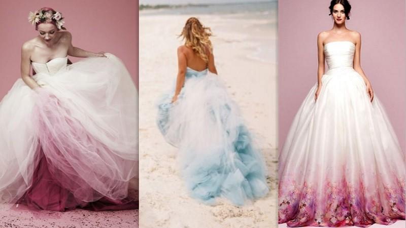 Chcete byť originálna a štýlová nevesta  Vyskúšajte ombré svadobné šaty 3566cf47c1e