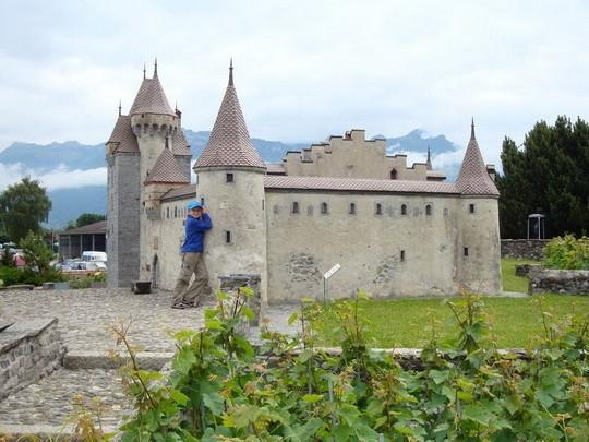 Model zámku Aigle v mierke 1