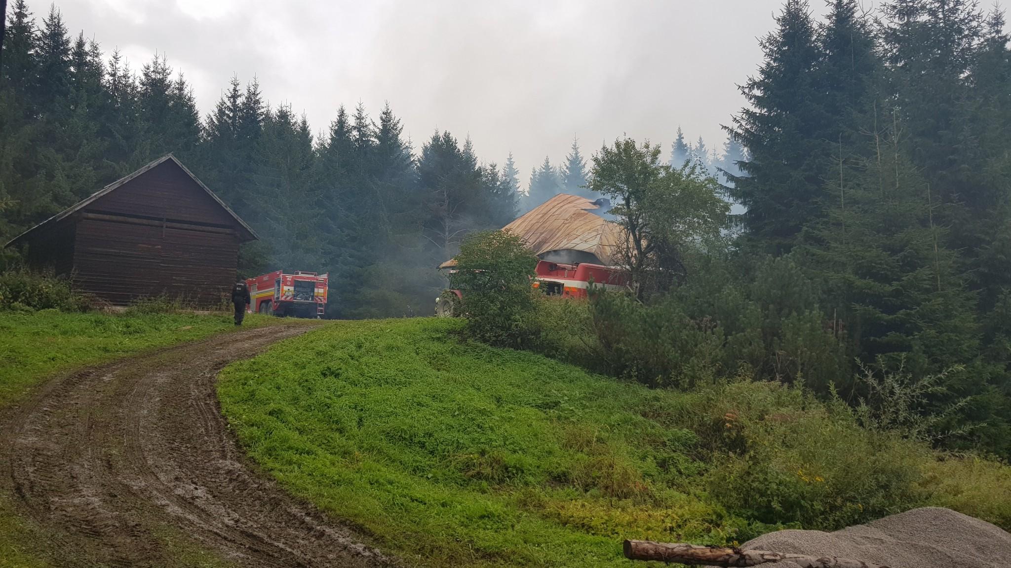 Požiari chaty v Mútnom pri Námestove
