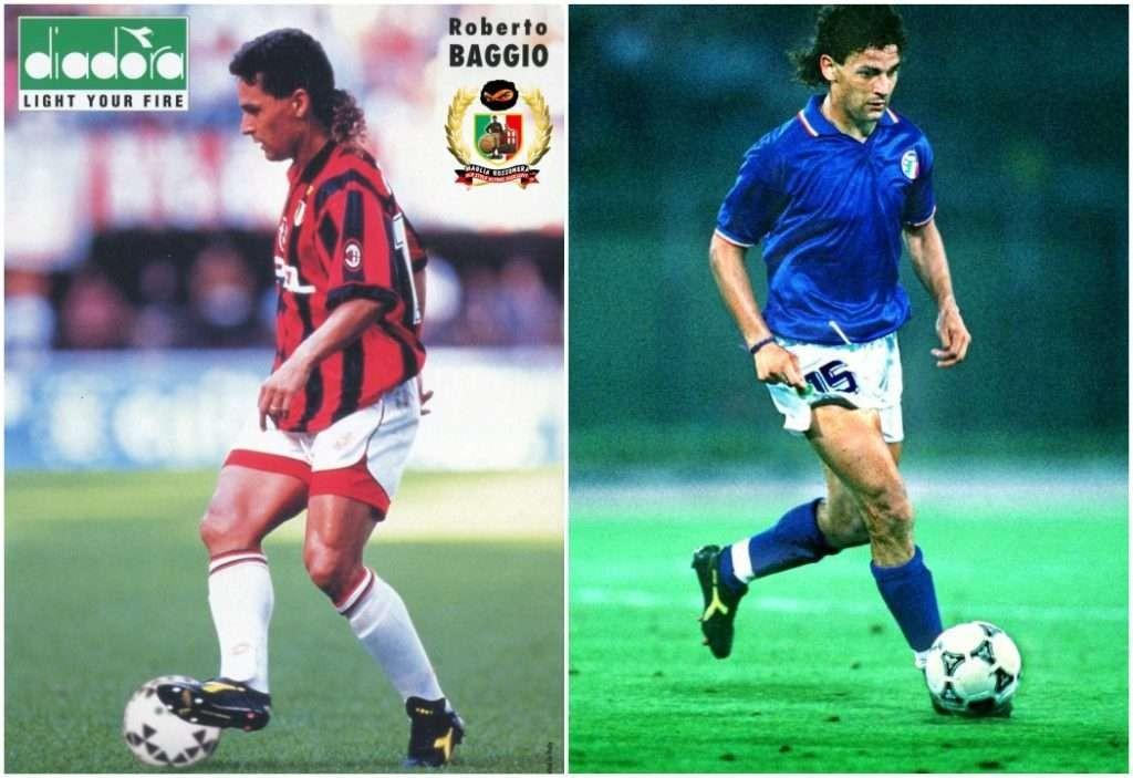 Roberto Baggio v kopačkách Diadora.