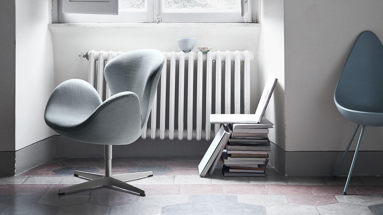 Swan chair aj dnes výborne zapadá do ľubovoľného priestoru.