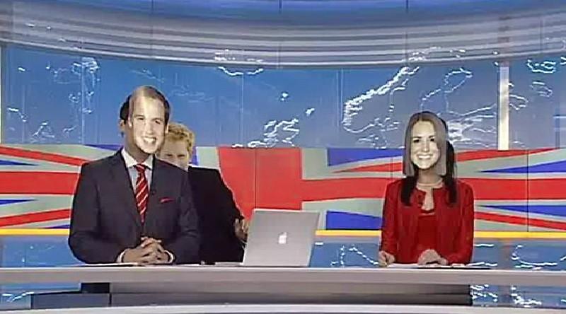 Princ William a Kate Middleton v štúdiu TV JOJ