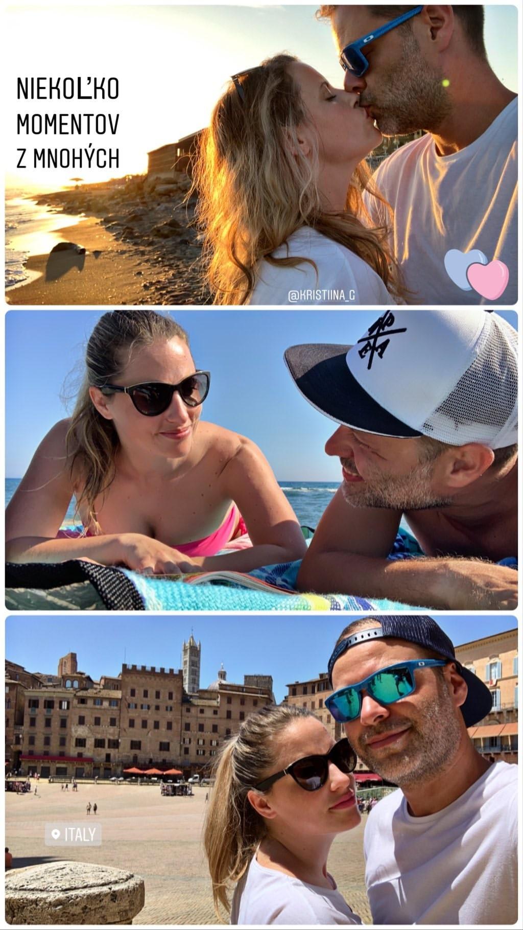 Martin Chynoranský a jeho priateľka Kristína na dovolenke v Taliansku