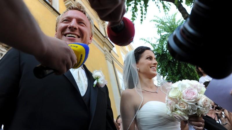 Marián Hossa s manželkou Jankou, svadba