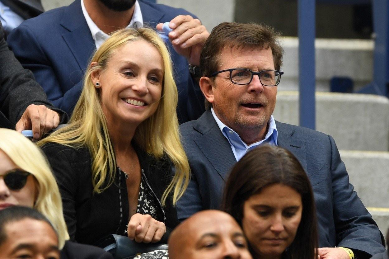 Michael J.Fox s manželkou Tracy Pollan