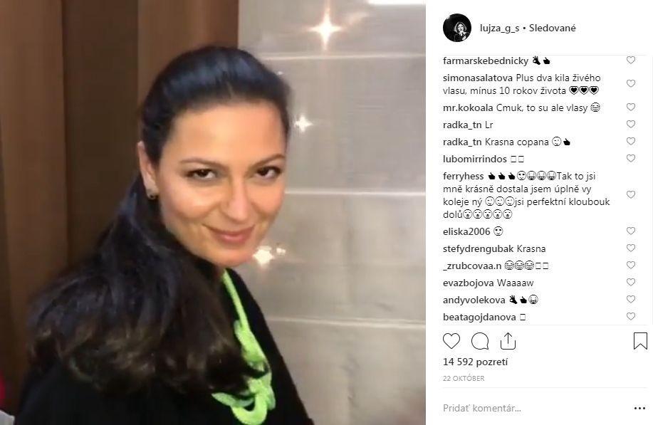 Lujza Garajová Schrameková zverejnila na svojom instagramovom profile fotku s