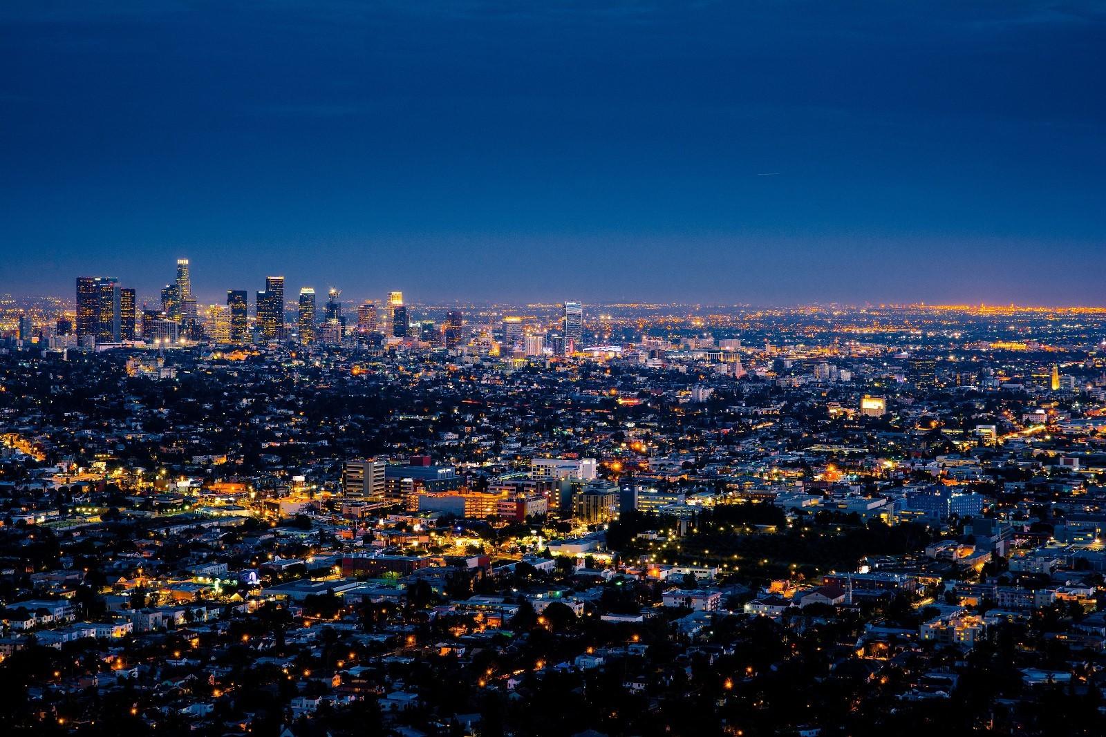 Los Angeles z observatória Griffith.