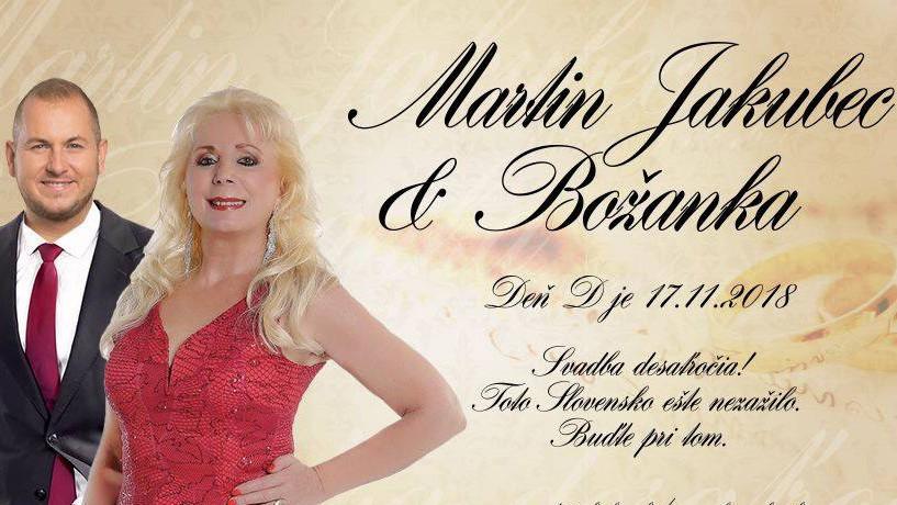 Pozvánka na svadbu Martina Jakubca a Božanky