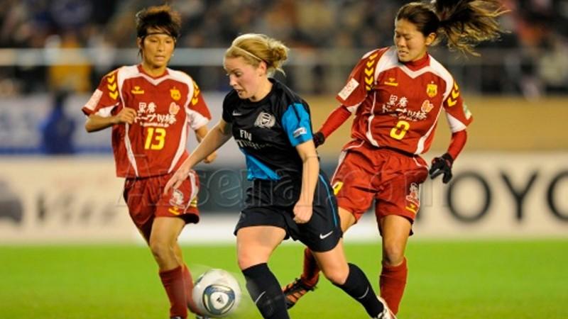 V súboji Toyota cupu s dámami lonýnskeho Arsenalu sa hráčka KOBE Ji So Yun prezentovala parádnym gólom.</p><p>