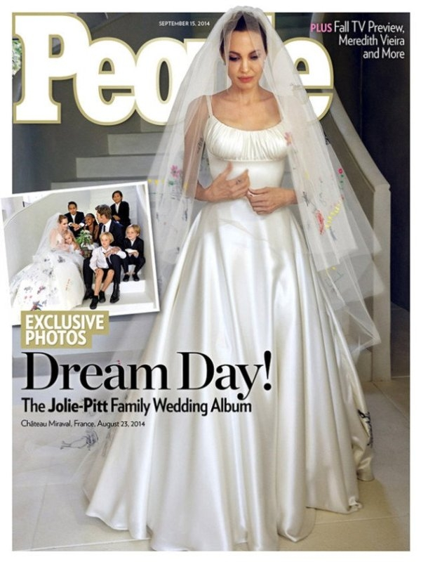 Angelina Jolie v svadobných šatách na obálke časopisu People