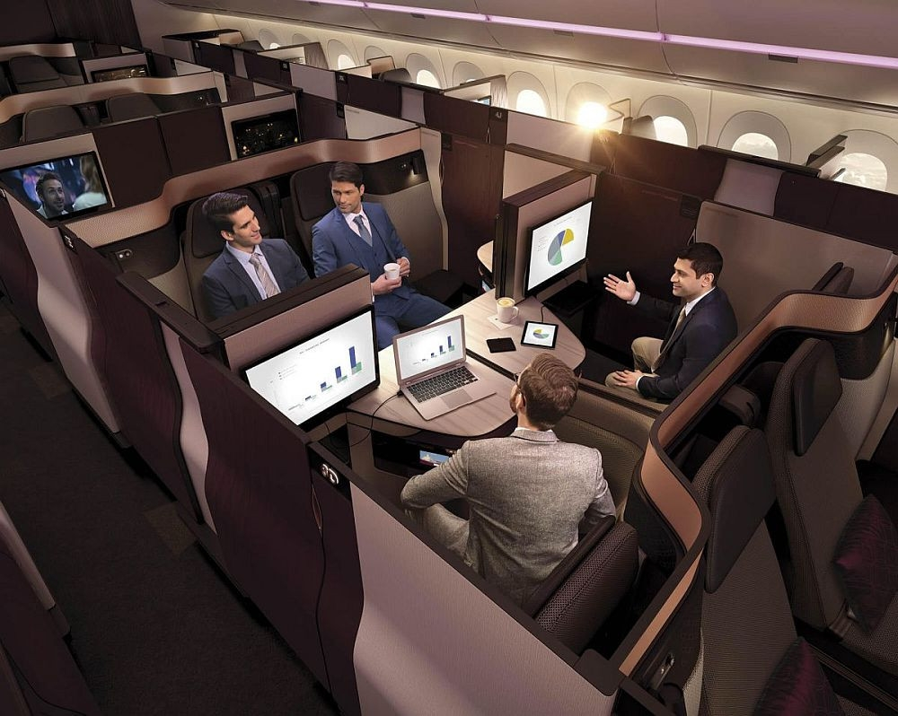 Systém Qsuite od Qatar Airways