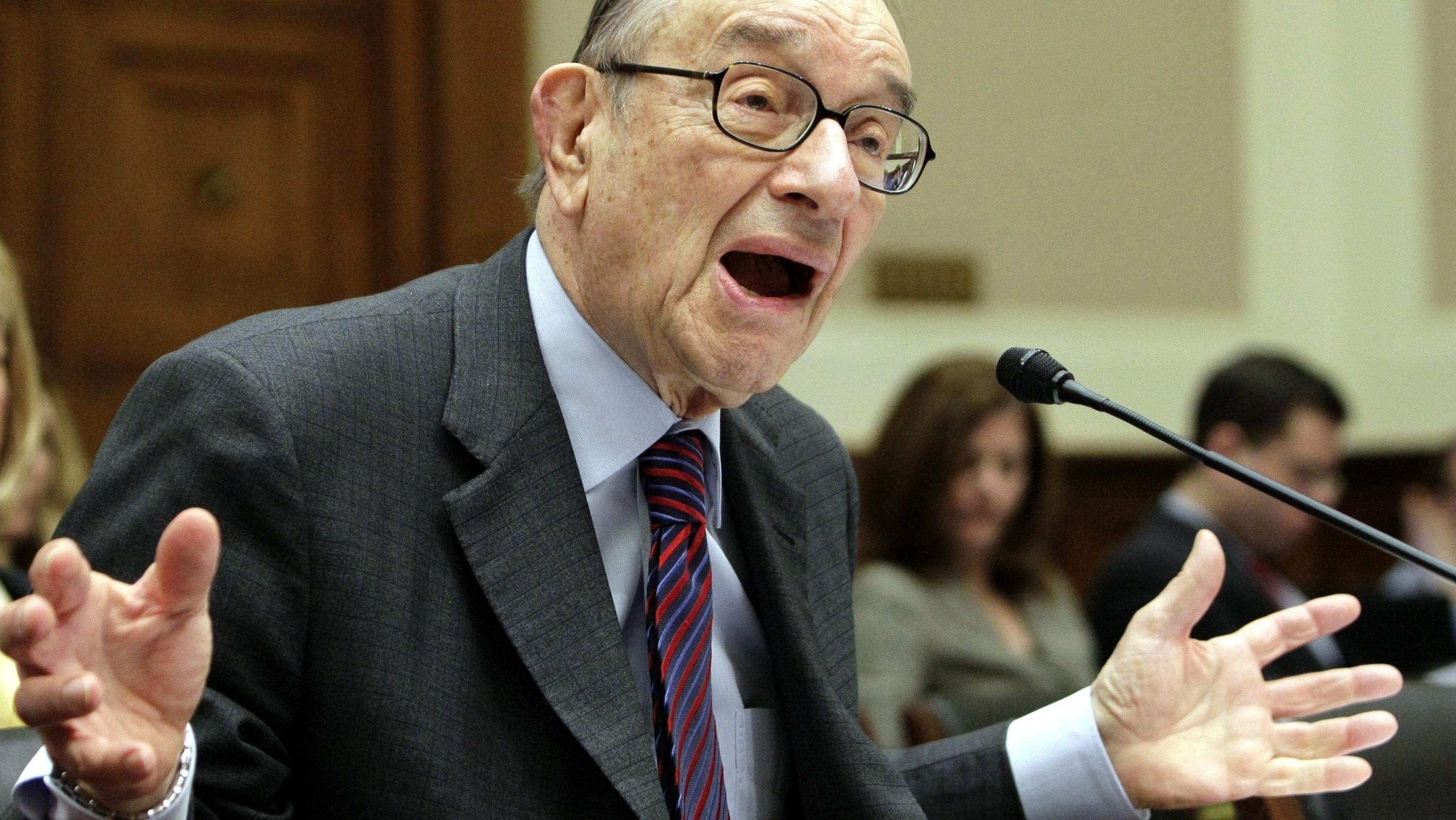 Exšéf Fedu Alan Greenspan,