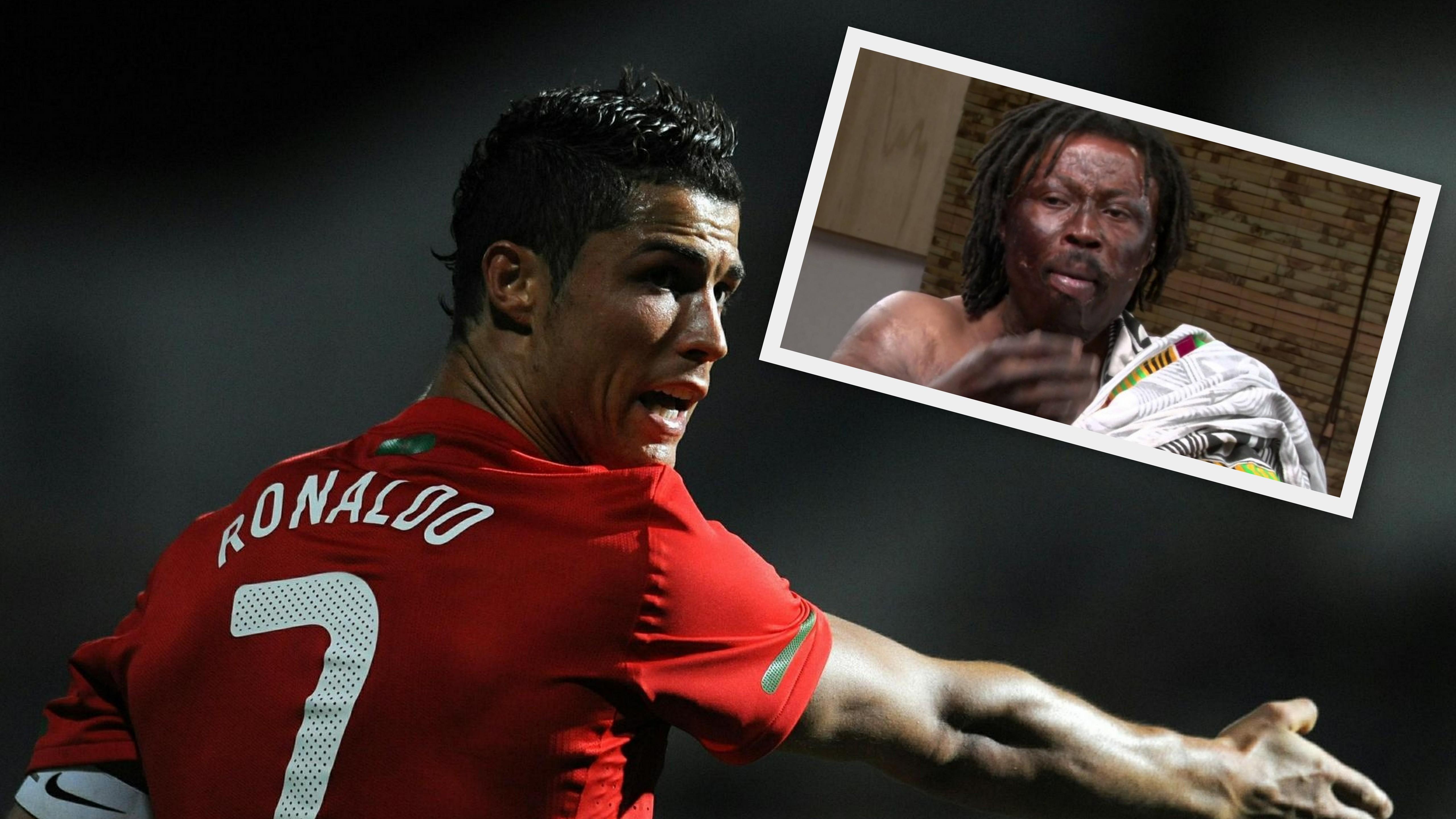 Cristiano Ronaldo a šaman z Ghany_koláž