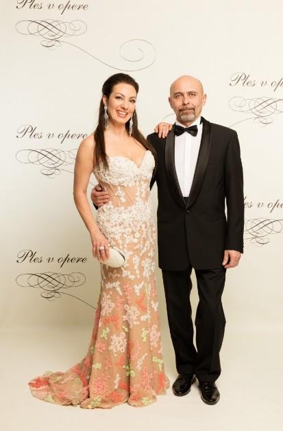 Katarína Hasprová s partnerom