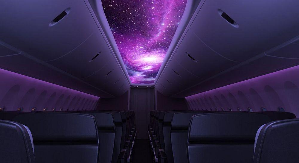 Secant Luminous Panel premení strop lietadla v obrie displej.